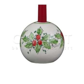Portacandela Sferico di Natale in Ceramica