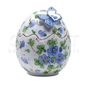 Uova di Pasqua Decorate con Farfalla Blu