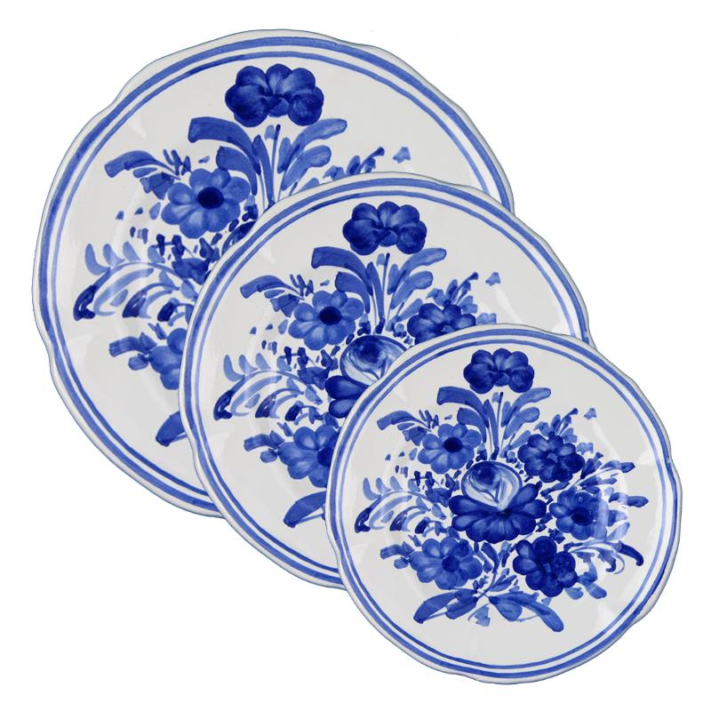 set piatti da tavola blu italian blue dinnerware set